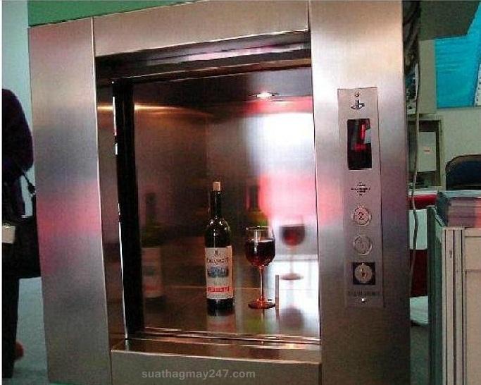 Thang máy tải thực phẩm tại các nhà hàng, quán ăn